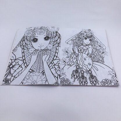 Malebog til børn med prinsessetegninger