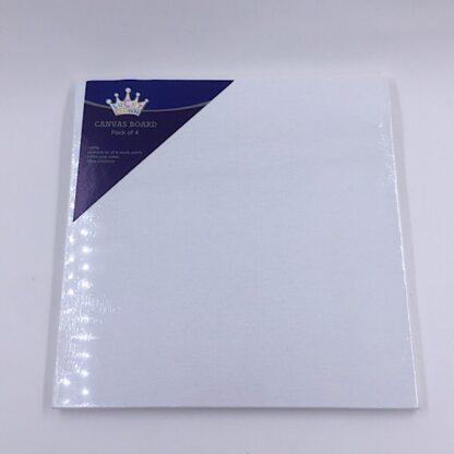 Malerplade med 280 grams lærred 25x25 cm