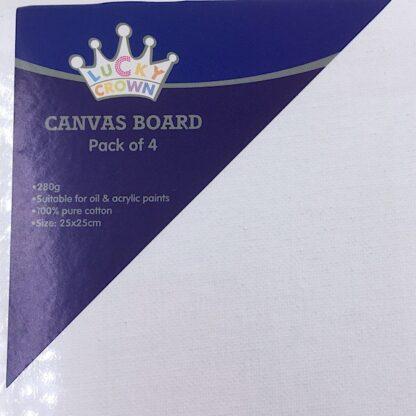 Malerplade med lærred 280 grams 25x25 cm