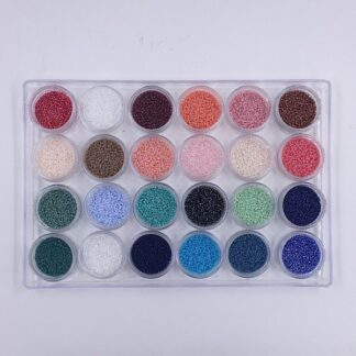 Miyuki Delica perler 24 forskellige farver i små æsker