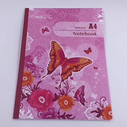 Notesbog med ternetpapir forsiden