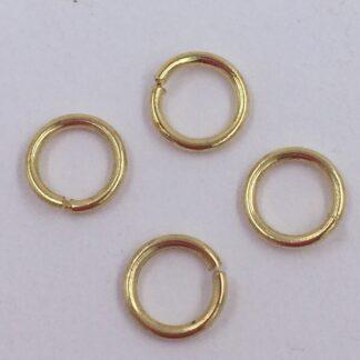 O-Ringe Øskner Guld 1 mm tråd størrelse 7 mm