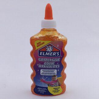 Elmers Glimmer Lim 177 ml Orange Glitter Glue