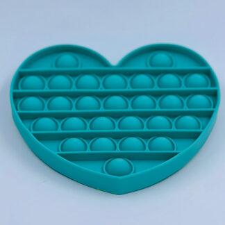 Pop it Fidget Toy antistress hjerte grøn sjov