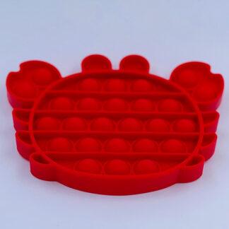 Pop it krabbe Fidget Toy rød Pop Fidget