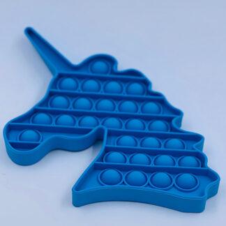 Pop it Unicorn blå Fidget Toy Enhjørning Pop Fidget