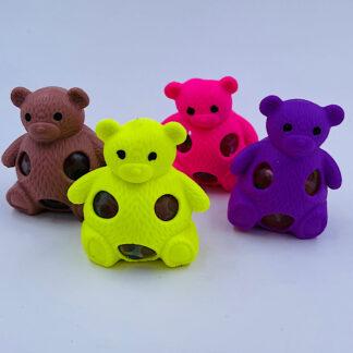 Squishy bamse fire farver med vandperler stressbold