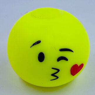 Stressbold med kysse emoji gul