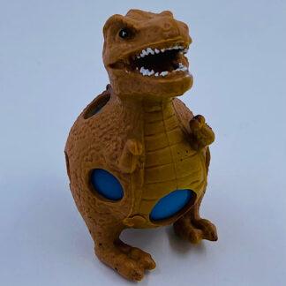 Dinosaurus stressbold brun med slim i maven