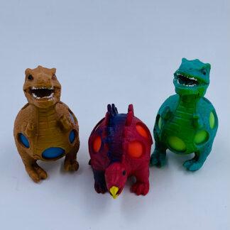 Dinosaurusser stressbold med slim i maven