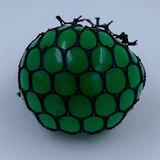 Klemmebold grøn med farveskift slim stressbold