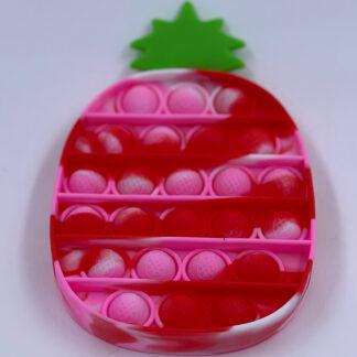 Marmoret ananas Pop it pink rød hvid Fidget Toy