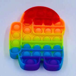 Pop it Among us Pop Fidget regnbuefarvet Fidget Toy
