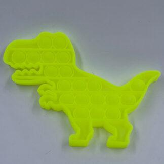 Pop it Dino gul Pop Fidget selvlysende Fidget Toy