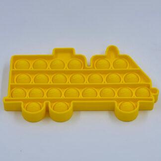 Pop it gul Pop Fidget brandbil Fidget Toy