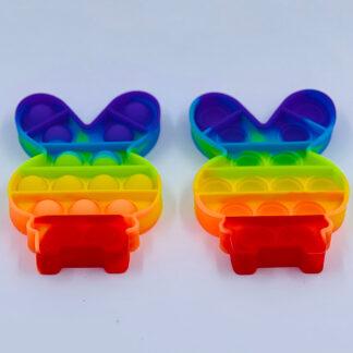 Pop it kanin Pop Fidget regnbuefarvet Fidget Toy