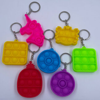 Pop it nøglering ensfarvet Fidget Toy