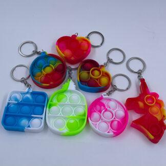Pop it nøglering marmoreret Fidget Toy