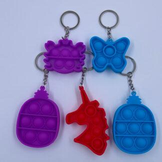Pop it nøgleringe Pop Fidget dyr og figur Fidget Toy