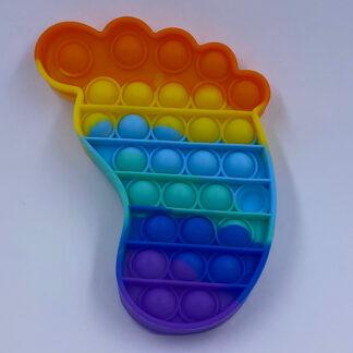 Pop it Regnbuefarvet Pop Fidget fod Fidget Toy