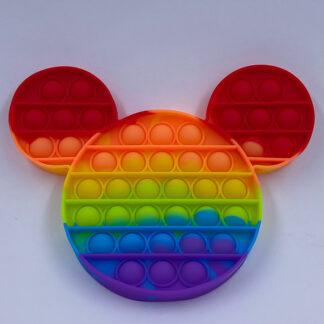 Pop it regnbuefarvet Pop Fidget Mickey Fidget Toy