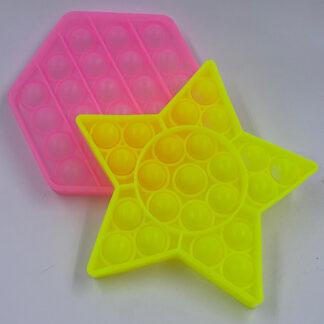 Pop it selvlysende Oktagon og Stjerne Fidget Toy