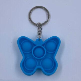 Pop it sommerfugl blå nøglering Fidget Toy