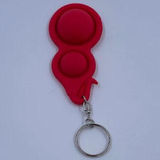 Simple Dimple nøglering rød Fidget Toy