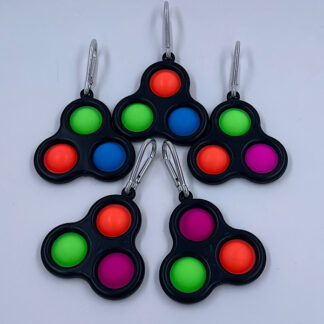 Simple Dimple nøgleringe med tre pop Fidget Toy