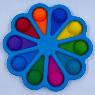 Stor Simple Dimple blomst Fidget Toy blå 10 pop