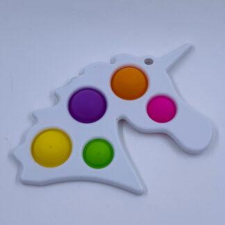 Unicorn Simple Dimple hvid Fidget Toy