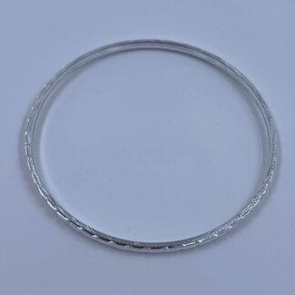 Armbånd sølv med mønster
