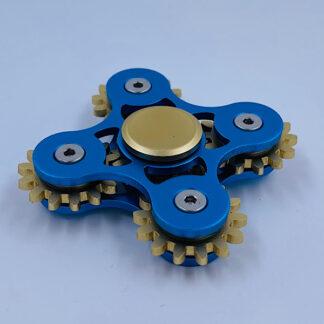 Fidget Spinner blå Tandhjuls Spinner Fidget Toy