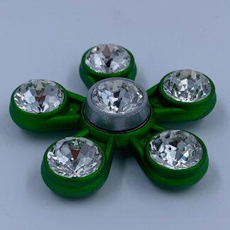 Fidget Spinner grøn med diamanter Fidget Toy