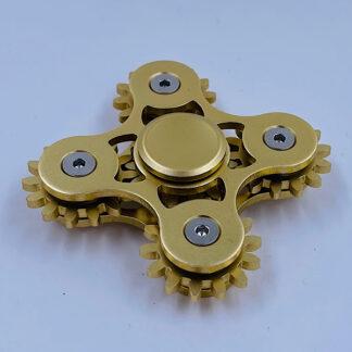 Fidget Spinner guld Tandhjuls Spinner Fidget Toy