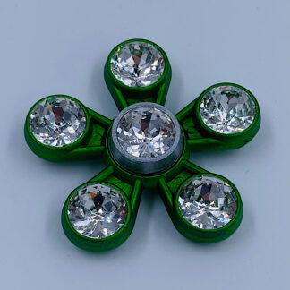 Fidget Spinner med Diamanter grøn Fidget Toy