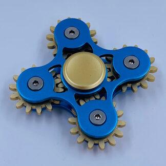Fidget Spinner med Tandhjul blå Fidget Toy