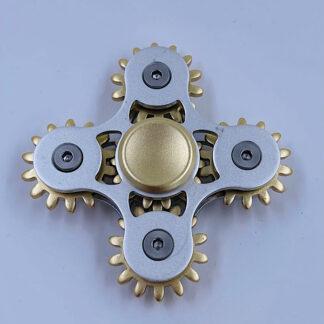 Fidget Spinner sølv tandhjuls spinner Fidget Toy