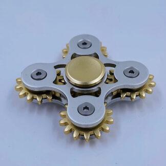 Fidget Spinner Tandhjuls Spinner sølv Fidget Toy