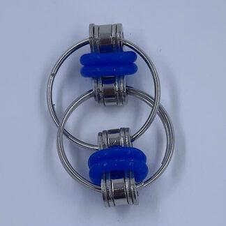 Flip Chain Fidget ringe blå Fidget Toy