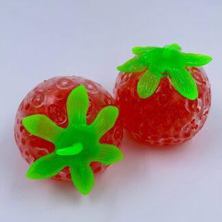 Jelly Jordbaer med røde vandperler Stress Toy