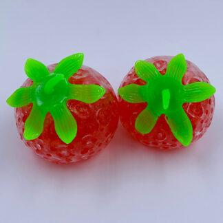 Jelly Jordbær Stressbold med vandperler Fidget Toy