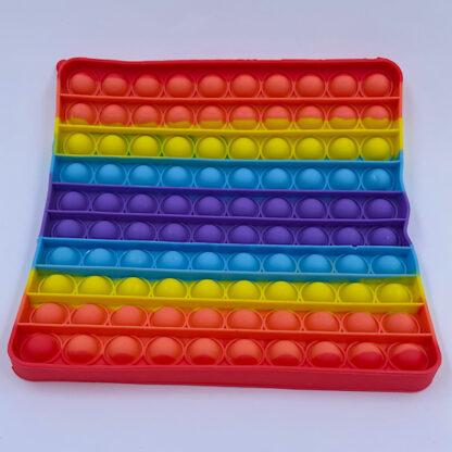 Kæmpe Pop it Regnbuefarvet Pop Fidget Firkant Fidget Toy