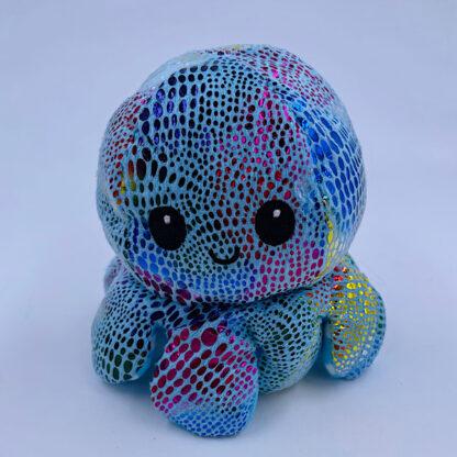Moody octopus reversible flerfarvet glimmer prikker glad