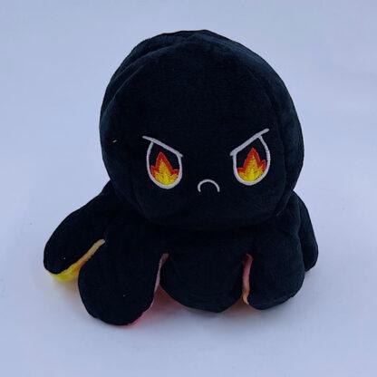 Moody octopus reversible flerfarvet lyserød gul sort ild vred
