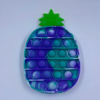 Pop it Ananas blå hvid turkis Pop Fidget Marmoreret Fidget Toy