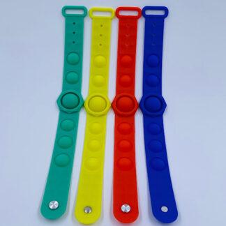 Pop it armbånd i fire farver Pop Fidget