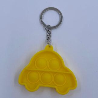 Pop it nøglering Pop Fidget gul bil Fidget Toy