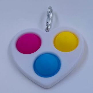 Simple Dimple Hjerte hvid Fidget Toy