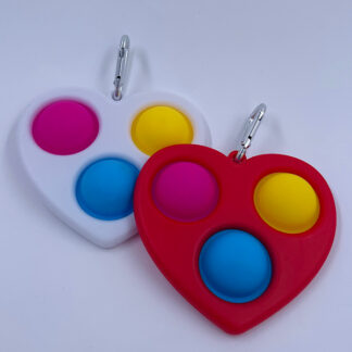 Simple Dimple Hjerte med tre pop Fidget Toy